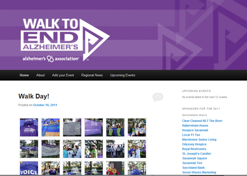 Savannah Walk to End Alzheimer's Blog